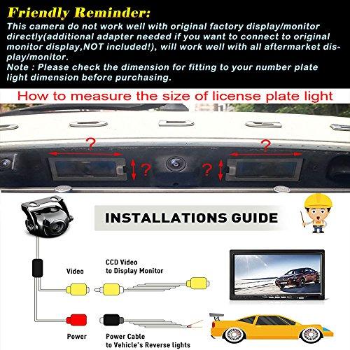 Misayaee Rear View Back Up Reverse Parking Camera in License Plate Lighting  Night Version (NTSC) for VW Golf 6 Golf VI MK6 MK7 GTI GTD R20 Lupo