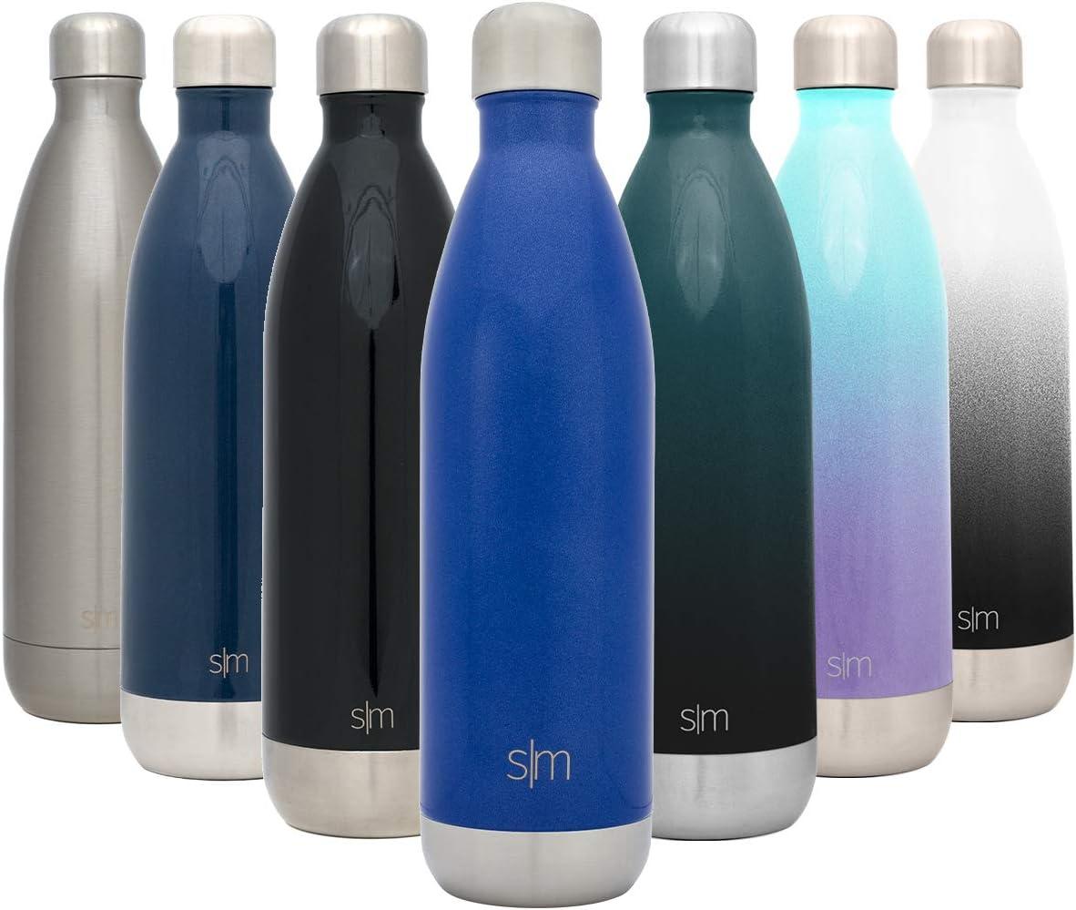 Simple Modern Wave 1000ml Termo Botella de Agua Acero Inoxidable, Botella termica sin BPA Mantiene el Temperatura Aislada al Vacío Doble Pared para Deporte café o Viaje -Pacifico