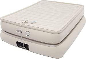 "Aerobed Pillowtop 24"" Tall Double High Raised Air Mattress with Built-in 120V AC Electric Pump and Integrated USB Charging Port (Full Size)"