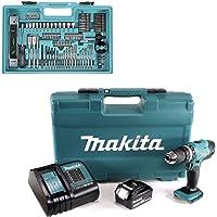 Makita DHP453FX12 18v kombiborr med 1 x 3,0 Ah batteri och 101 st tillbehörsset, 18 V
