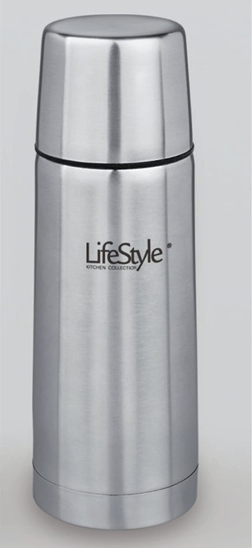 Life Style - Thermos Contenitore per Liquidi - Acciaio Inossidabile - 500 ml - Argento