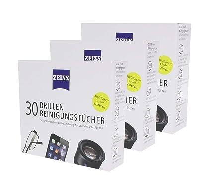 b1017d6f5a51c Zeiss Lunettes Chiffons de nettoyage 3 x (30 Lingettes)  Amazon.fr ...