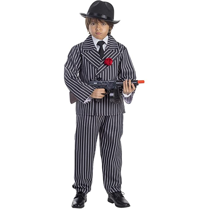 Amazon.com: Niño Pinstriped Gangster disfraz por Dress Up ...