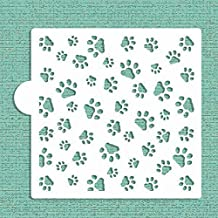 Mini Dog Paws Allover Cookie and Craft Stencil CM007 by Designer Stencils by Designer Stencils