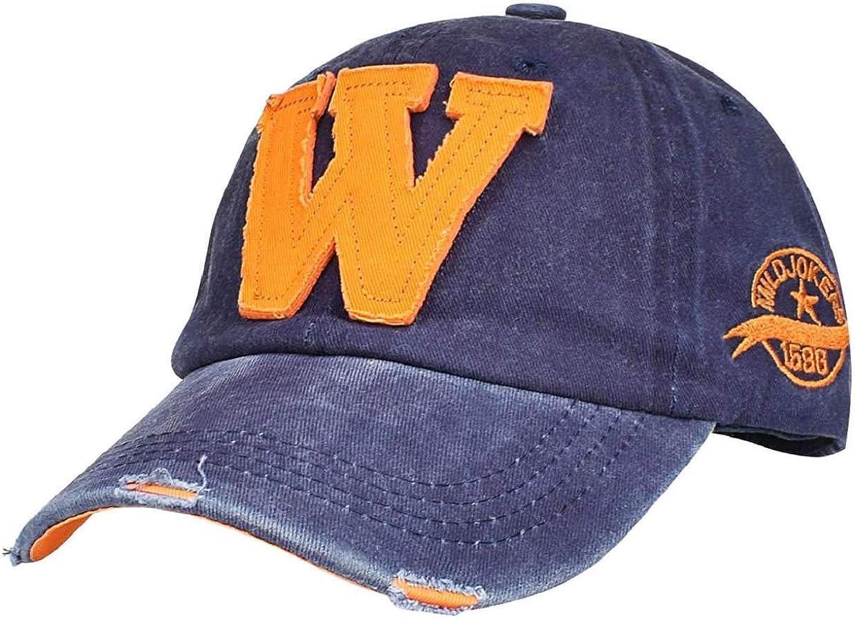heekpek Gorra Hombre Béisbol Retro Snapback Unisex Verano Letra W Moda Hockey Béisbol Gorras Hip Hop Sombreros (Azul): Amazon.es: Ropa y accesorios
