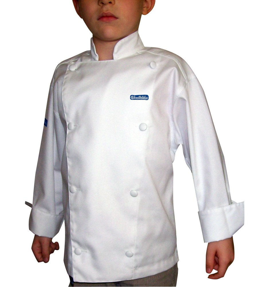 CHEFSKIN Jacket + White Apron+ White Hat Baby Toddler Kid Children Chef Set Lite
