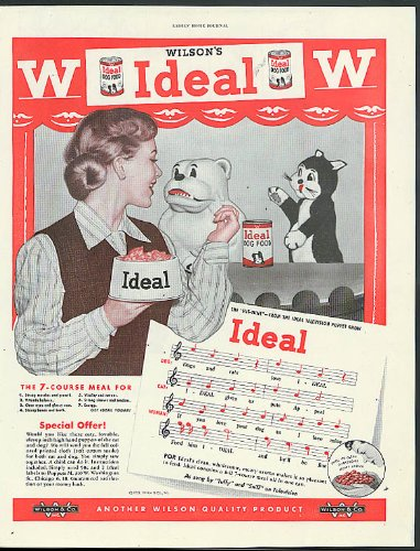 Wilson's Ideal Dog Food Puppet Show song ad 1951