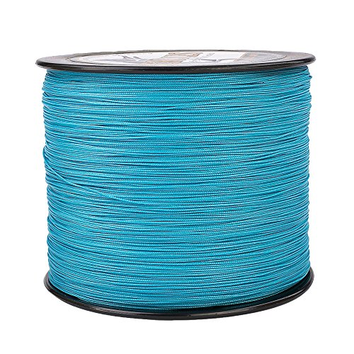 HERCULES Super Cast 1000M 1094 Yards Braided Fishing Line 100 LB Test for Saltwater Freshwater PE Braid Fish Lines Superline 8 Strands - Blue, 100LB (45.4KG), -