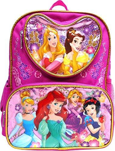 "Disney Princess Mermaid & Snow white 16\"" Large Backpack- 17551"