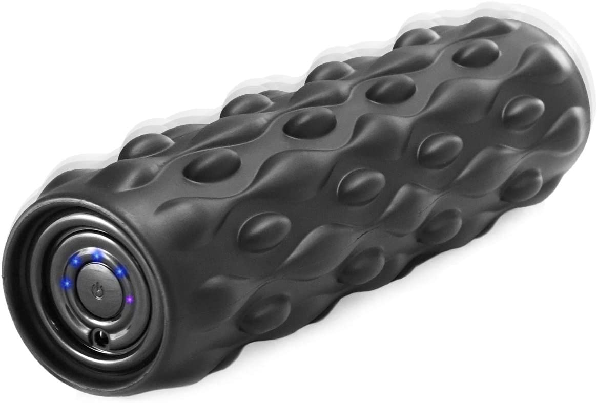 Vulken 13 Vibrating Foam Roller 4 Speed High Intensity Deep Tissue Fitness Massager Muscle Recovery Trigger Point Therapy, Myofascial Release.