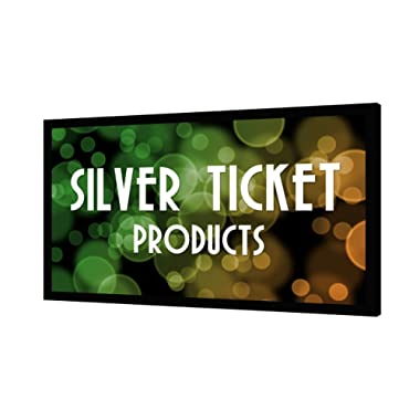 STR-169100 Silver Ticket 100  Diagonal 16:9 4K Ultra HD Ready HDTV (6 Piece Fixed Frame) Projector Screen White Material