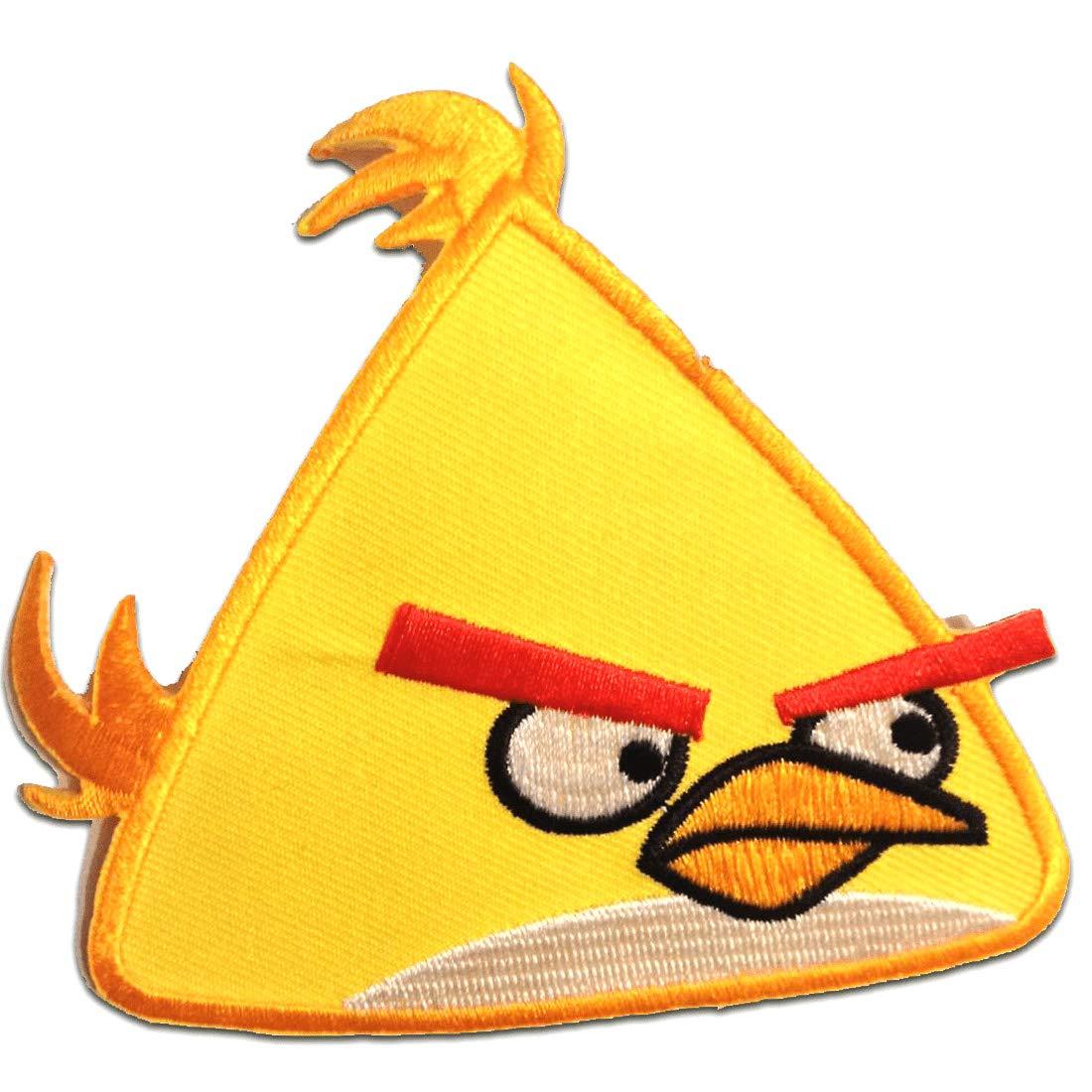 5,9x5,8cm grün Bügelbild Aufnäher Angry Birds Comic Kinder