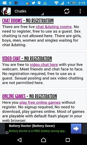 Free live chat no registration