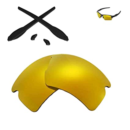 edb08ac30a4 Walleva Replacement Lenses and Earsocks for Oakley Flak 2.0 XL Sunglasses -  Multiple Options (24K