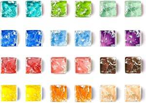 MOHENA Magnets for Fridge, Cute Fridge Magnets Small Refrigerator Magnets, Locker Decorative Magnets Glass Colorful Mini Magnets for Whiteboard Kitchen Office Magnets - 24 Pack