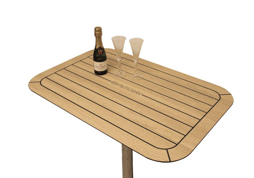 NAUTICMAN® Bootstisch 50cm x 75cm Nordic Oak
