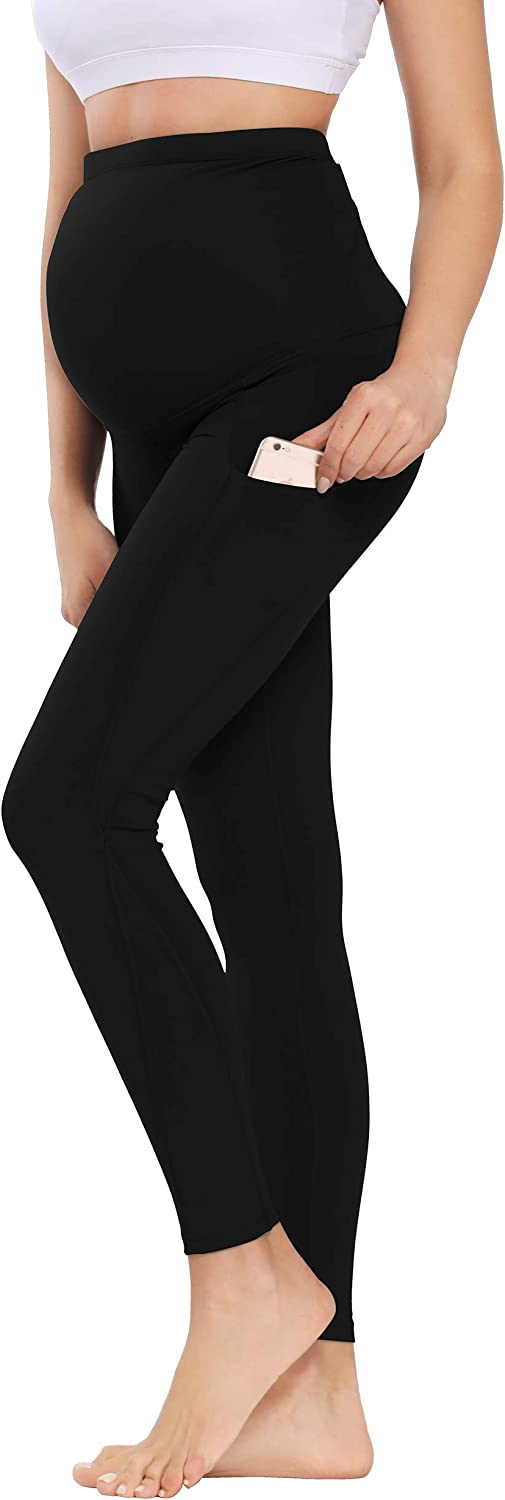 Foucome Womens Maternity High Waisted Fitted Casual Pants Stretchy Lounge Workout Pants Comfy Pregnancy Joggers with Pockets