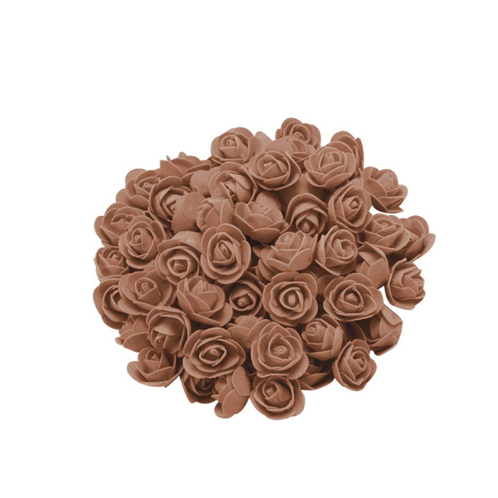 Cyhulu New Fashion Creative 100Pcs Foam Rose Flower Heads Best Lover Gifts for Wedding Birthday Valentine Mother's Day Favors Decoration (E, One size)