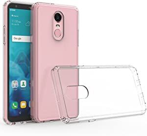 RKINC for LG Stylo 4 (2018) Case, Reinforced Corners Soft Cushion TPU Bumper + Hybrid Crystal Clear Rugged Hard Transparent Cover for LG Stylo 4 (2018)