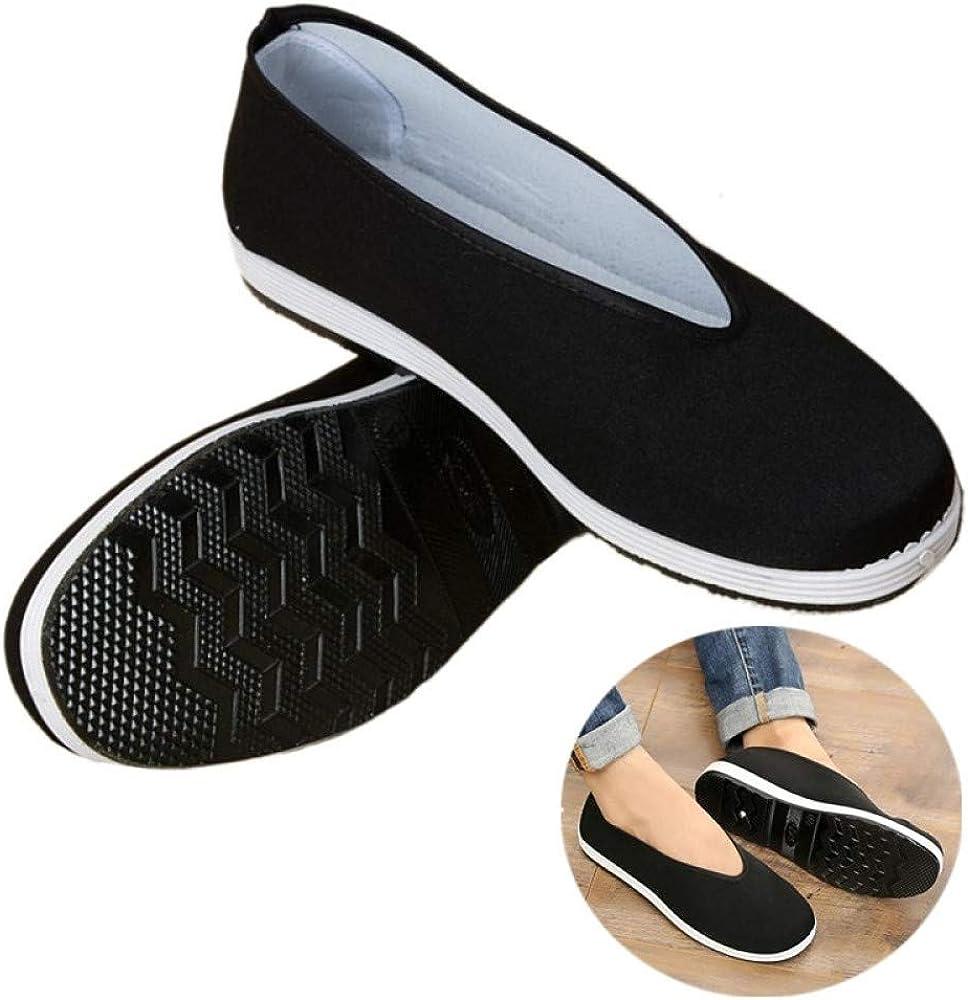 FENGZ Chinesische Traditionelle Schuhe Kung Fu, Peking Stil Gummisohle Unisex Schwarz ...