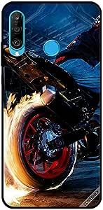 For Huawei P30 Lite Case Bike Wheel Fire