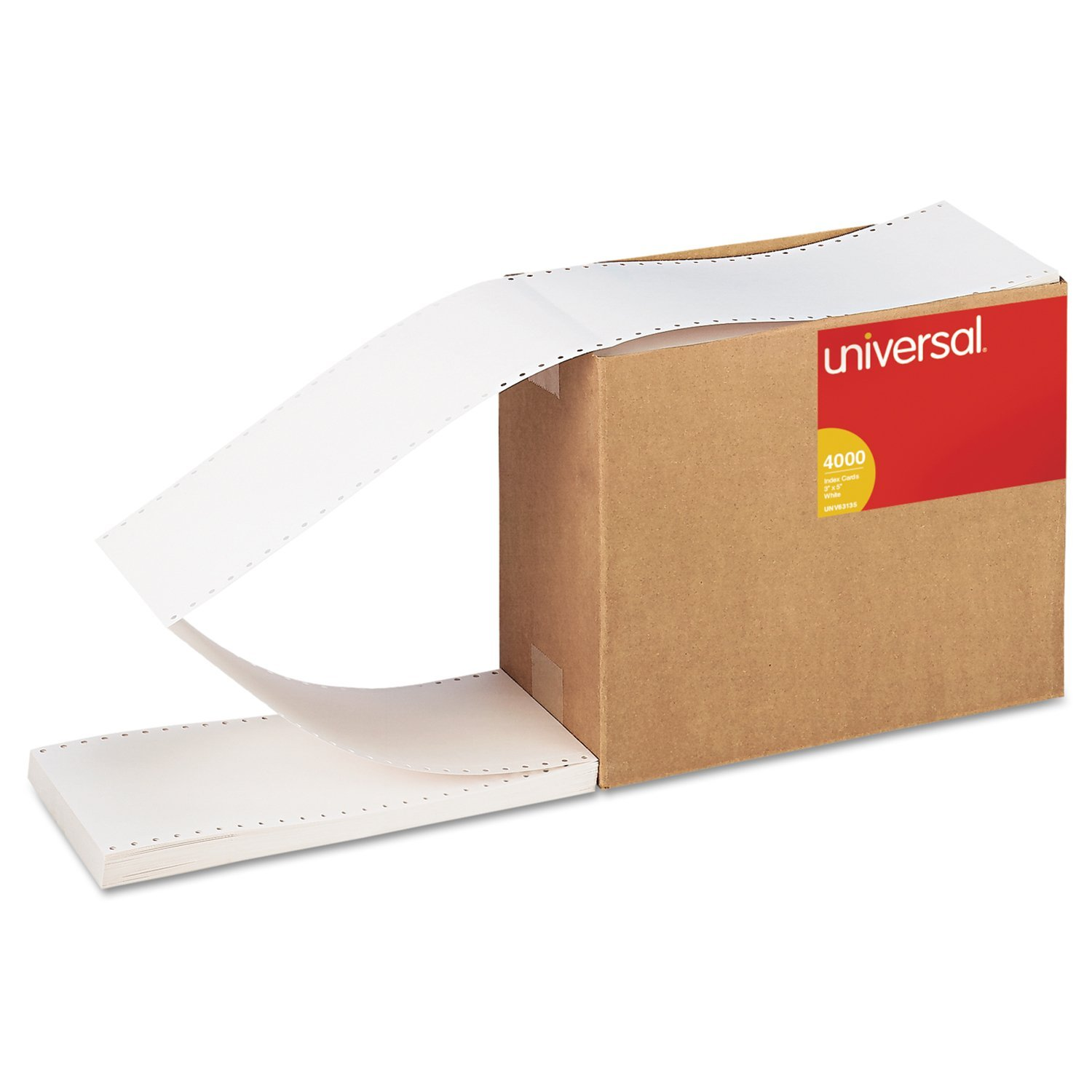 Continuous Unruled Index Cards, 3 x 5, White, 4,000/Carton