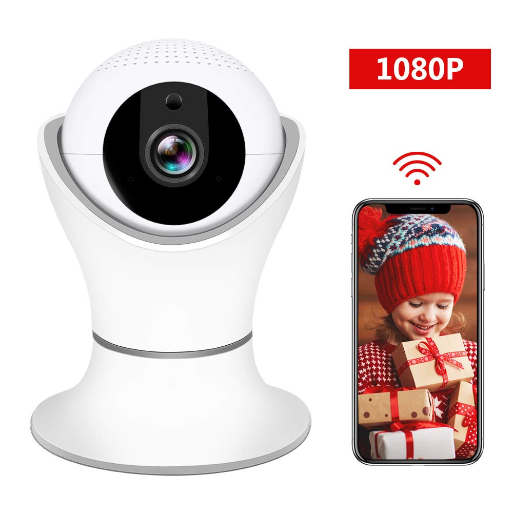 HD 1080P Wireless IP Camera, WiFi Home Security Surveillance IP Camera with 3D Navigation Panorama for Elder/Pet/Office…