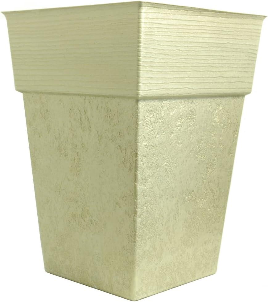 Listo Avino Square Planter, 13-Inch, Champagne Bronze
