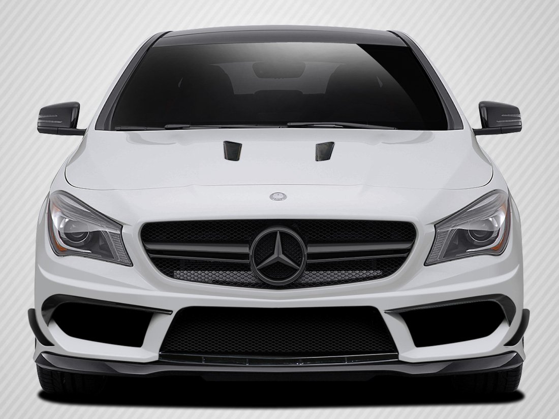 Carbon Creations Replacement for 2014-2015 Mercedes CLA Class Black Series Look Front Bumper Accessories - 4 Piece by Carbon Creations (Image #1)