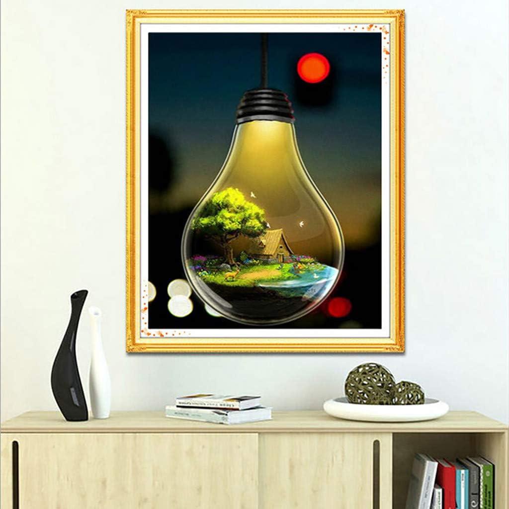 Dumanfs 5D Diamond Painting Kit DIY Rhinestone Embroidery Cross Stitch Arts Craft for Home Wall Decor