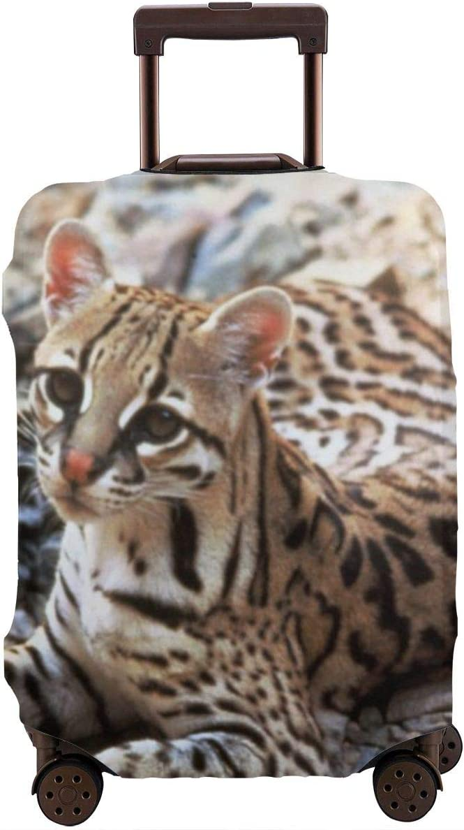 TYDhey Vintage Ocelot Universal Fashion Luggage Suitcase Cover Protector