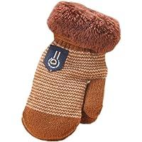 FEITONG Espeso lindo Caliente bebé infantil chicas chicas De guantes de invierno caliente (Café)