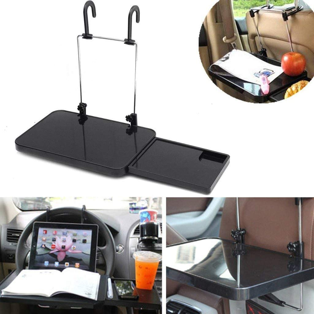 Tissue Box and Water Bottle Holder Storage Foldable Car Dining Table Desk Adjustable Auto Vehicle Laptop Tablet NszzJixo9 Multifunctional Car Dinning
