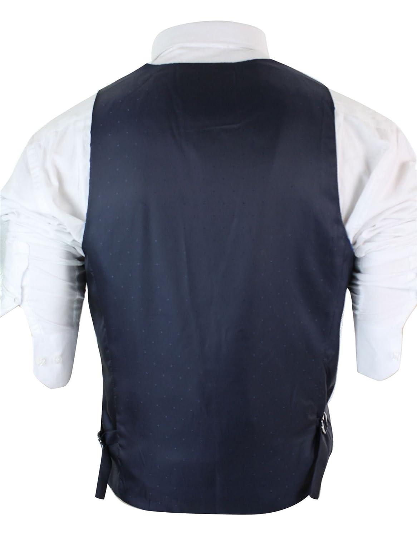 Gilet Elegante da Uomo in Tweed Blu Blu Scuro o Nocciola e Finiture in Velluto