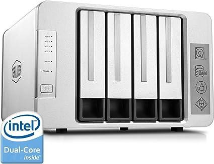 TerraMaster F4-220 - Caja de Servidor NAS 4 bahías Intel Dual Core ...