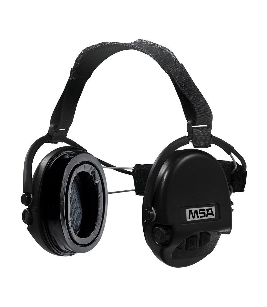 MSA Sordin Supreme PRO with black cups - Neckband - Electronic Earmuff equipped with comfortable ear-seals, slim-design by MSA Sordin