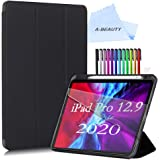 "A-BEAUTY Case for iPad Pro 12.9"" 4th Gen 2020 / 3th Gen 2018 Release with [Screen Protector] [Pencil Holder] Slim Stand…"