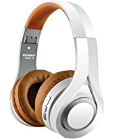 Casque Bluetooth, ELEGIANT Écouteur Bluetooth sans Fil Headset Wireless Réglable Mains libres + Mic/aux Audio 3,5 mm Compatible avec Smartphone Iphone Android Ordinateur PC Tablette (blanc)