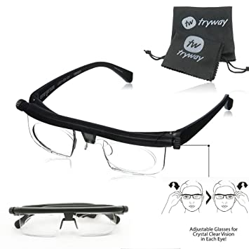 68e97cfa1c New Adjustable Dial Eye Glasses Vision HD Reader Glasses Variable Focus  Glass For Distance Or Reading