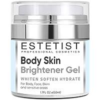 Skin Brightener Gel for Body, Face, Bikini and Sensitive Areas - Dark Spot Remover Cream