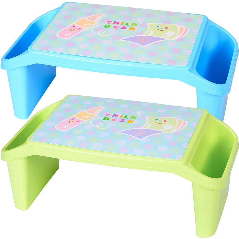NNEWVANTE Lap Desk For Kids With Storage Portable Childrenu0027s Table For  Homework Or Reading Breakfast Bed Tray Child Art Plastic Stackable Table,  ...