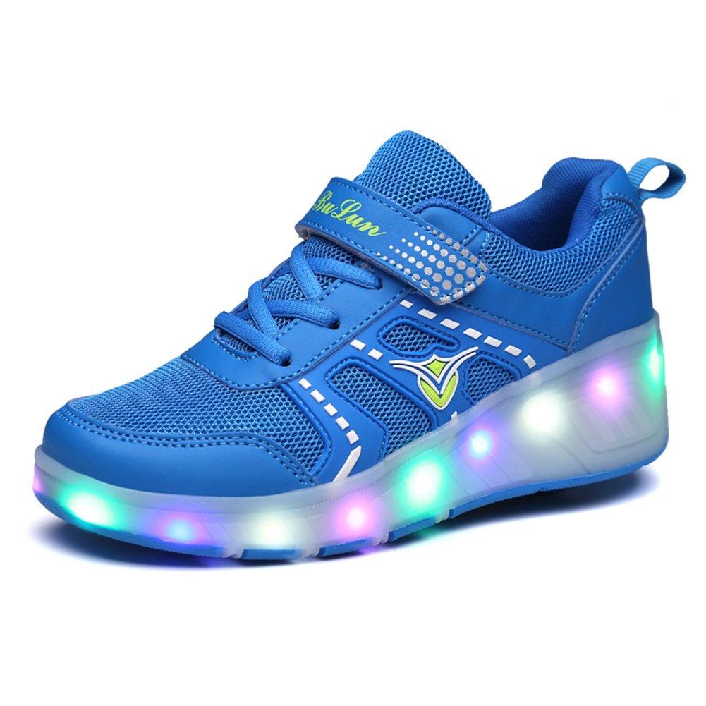 Bruce Wang Gar/çons Filles LED Allumer Chaussures /à roulettes /à Une Roue