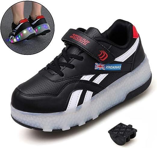 Ice-Beauty-ukzy Zapatillas con Ruedas, Led Luz Automática de Skate Zapatillas Zapatos con Ruedas Zapatillas con USB Recargable Gimnasia Running Zapatillas de Skateboard: Amazon.es: Hogar