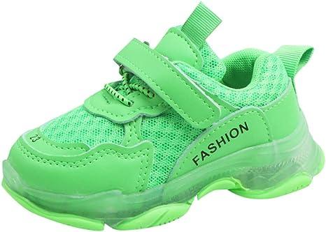 Jfhrfged - Zapatillas Deportivas para niños – Niñas – Zapatillas de Gimnasia para Correr para niños Unisex Running Mesh Ligera, Verde, 5.5-6 Anni: Amazon.es: Deportes y aire libre