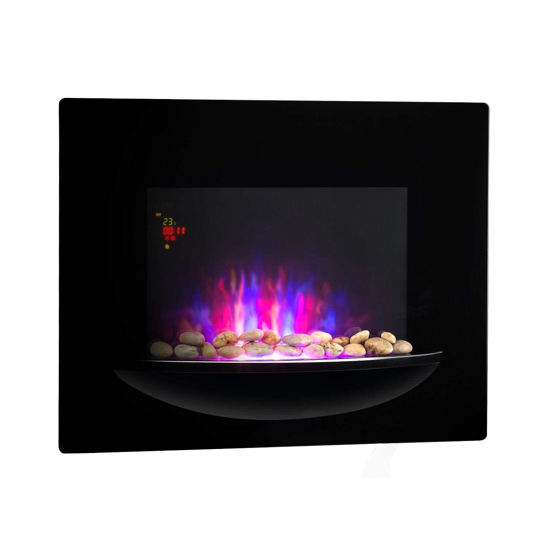 Flammenillusion schwarz 2 Heizstufen Fernbedienung elektrischer Heizl/üfter Wochentimer 1800 W Elektro-Wandkamin KLARSTEIN Feuerschale Adaptive Startsteuerfunktion