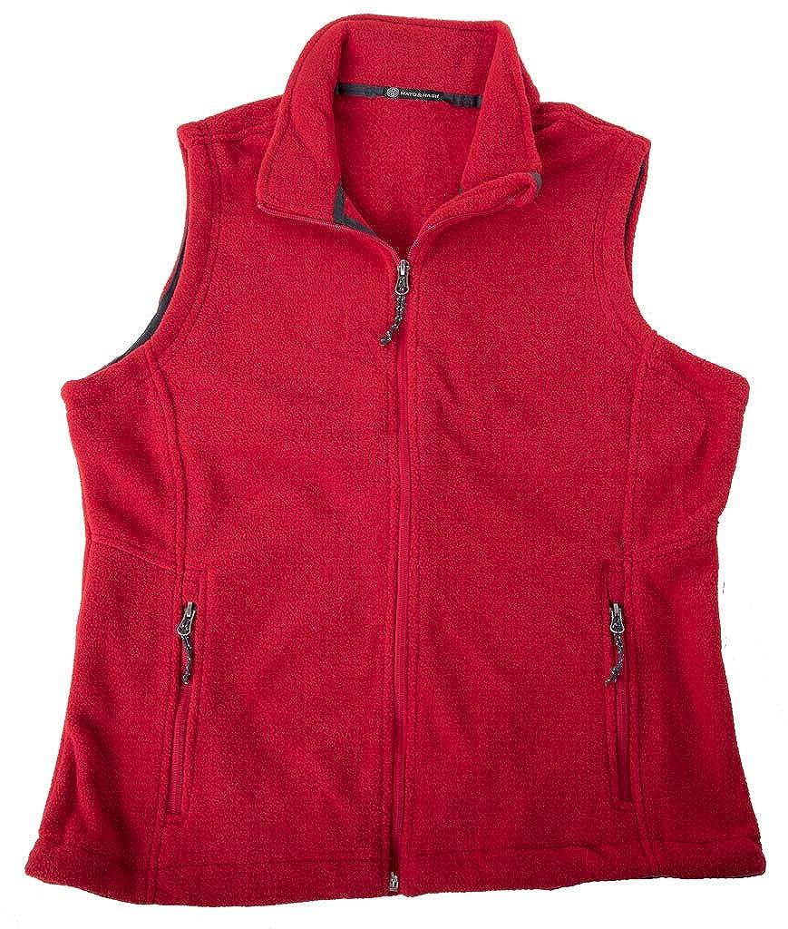 Mato & Hash Woman's fleece Vest | Polar Fleece Vest for Woman with Zippered Pockets Mato & Hash CA5500 - CA