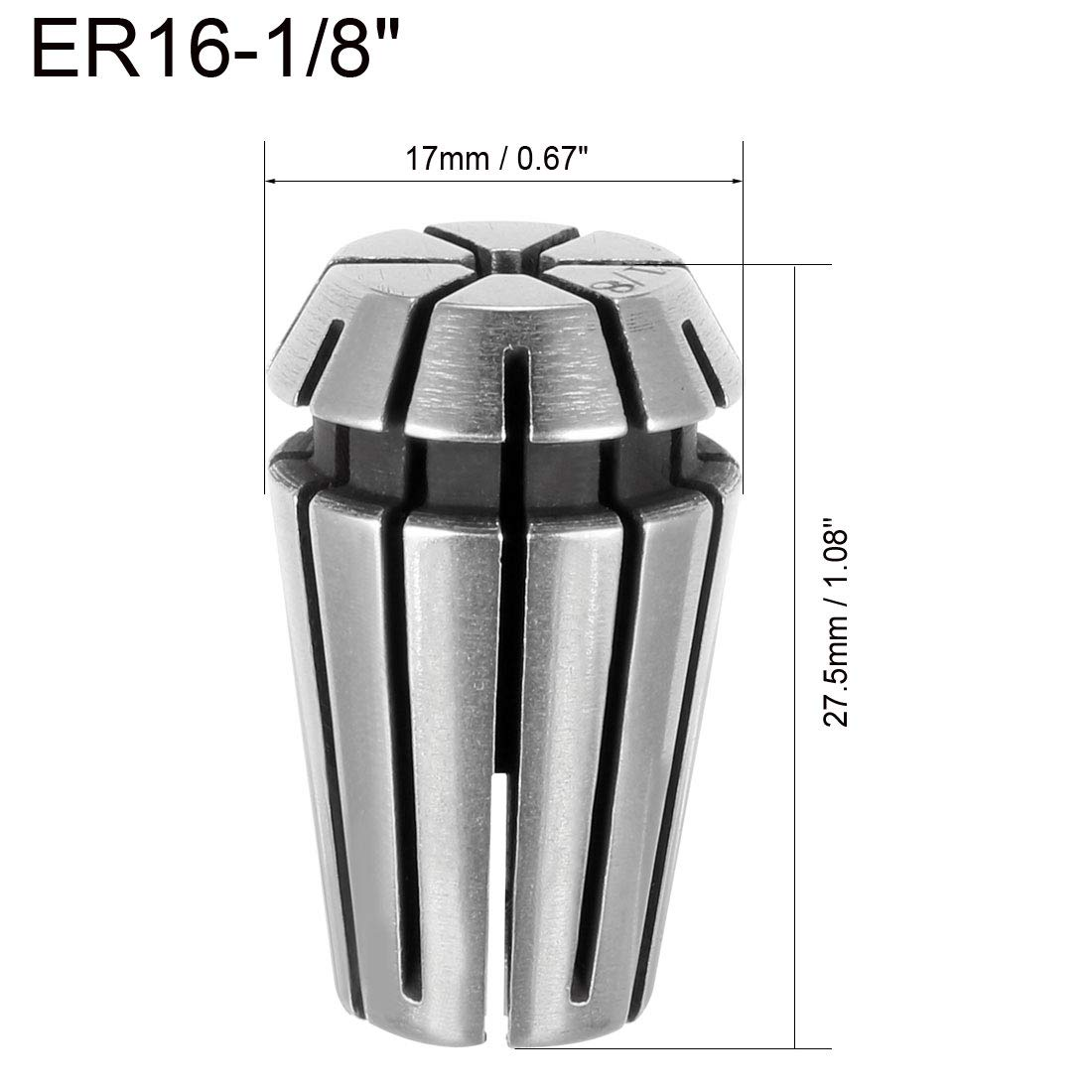 sourcing map ER25 1//2 Spring Collet Chuck for CNC Engraving Machine Lathe Milling Tool