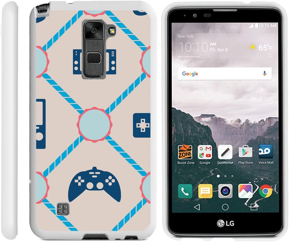 TurtleArmor | Compatible with LG Stylus 2 Case | LG G Stylo 2 Case [Slim Duo] Smooth Matte Hard Snap On 2 Piece Slim Shell Compact Case on White Video Games - Blue Controllers
