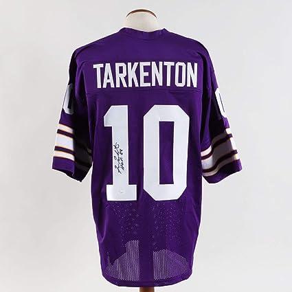 Fran Tarkenton Signed Jersey Vikings - COA JSA at Amazon's Sports ...