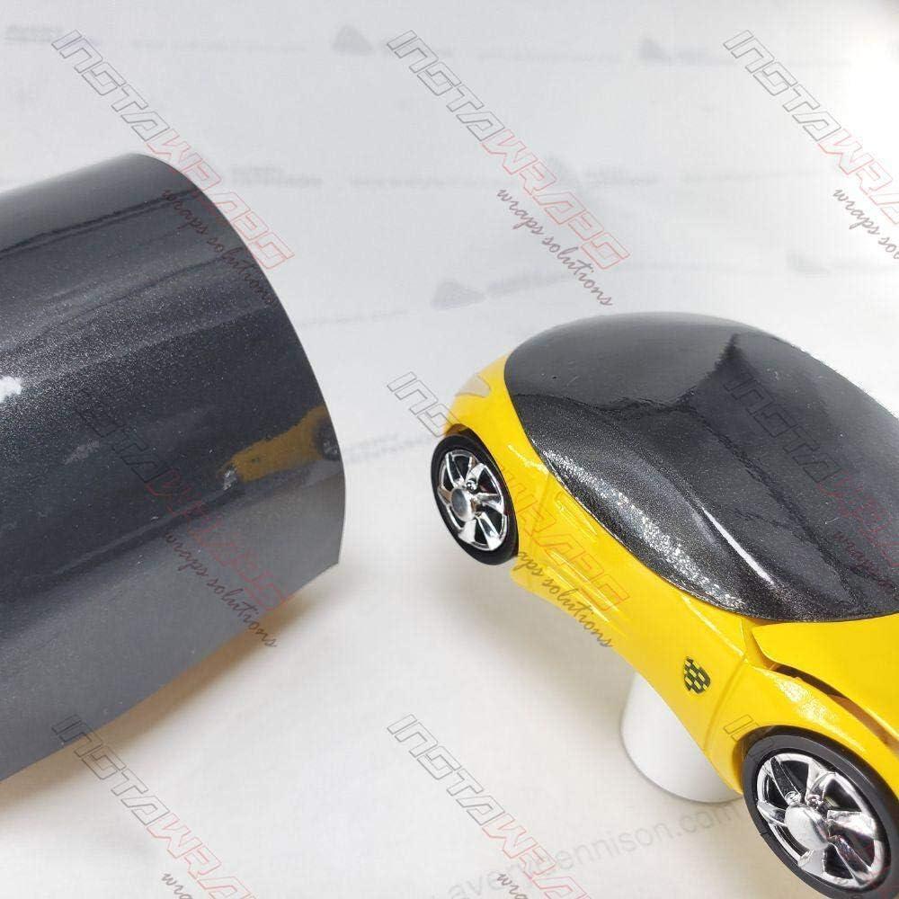 Black Gloss 5ft x 10ft 50sq ft Cast Vinyl Decal Bubble-Free Car Wrap Interior